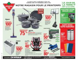 Circulaire Canadian Tire 15 avril - 21 avril 2021