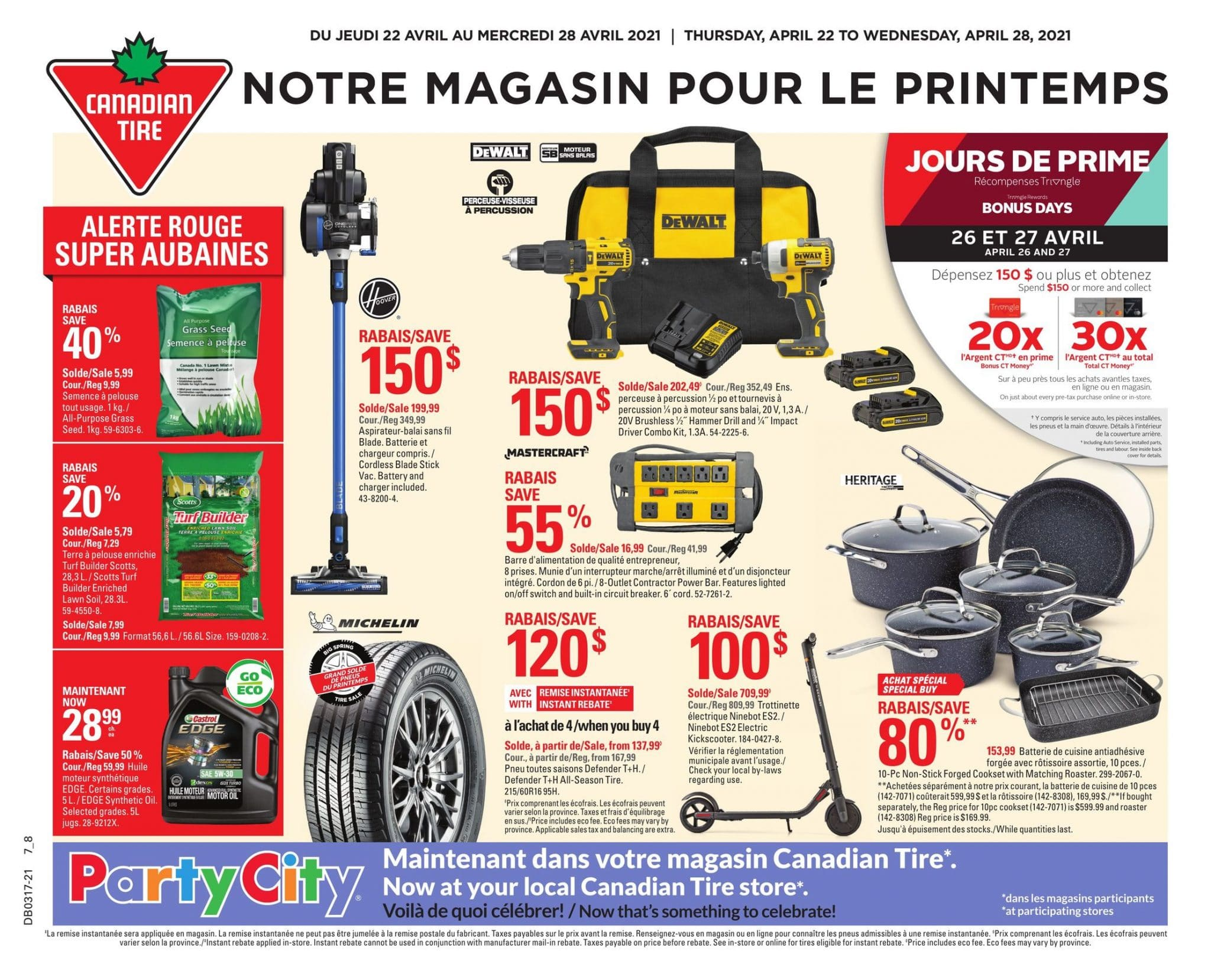Circulaire Canadian Tire 22 avril - 28 avril 2021